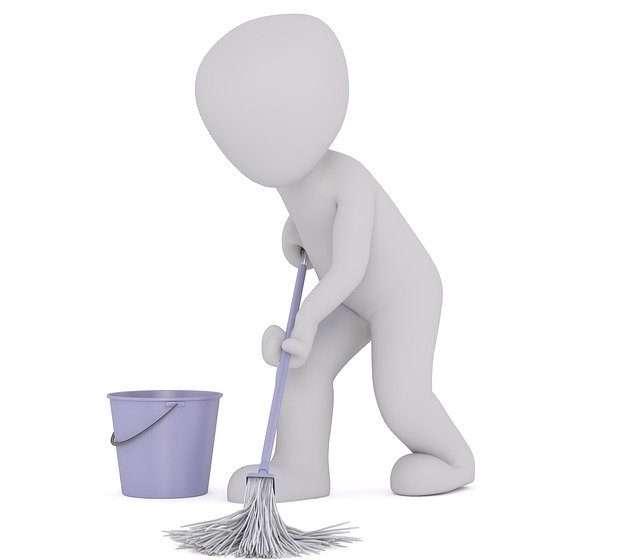 Fußboden reinigen